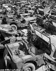 WWII Jeep Salvage Operations, Okinawa, Japan, 1949