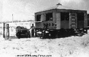 WW2 Coast Guard Anti-Saboteur Beach Patrol Jeep and Hut on South Padre Island, Texas.