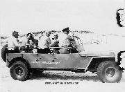 WW2 Coast Guard Anti-Saboteur Patrol Jeeps. The US Coast Guard also took WWII Jeeps and stretched them so that they would accomodate the full Beach Patrol Crew. US Coast Guard stretched jeep at Smiths Point Station in 1945