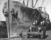 WWII Coast Guard Port Security Patrol Jeep in NY
