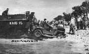 Another USMC Jeep is delivered from the US Coast Guard-manned Assault transport Callaway via a landing barge to American forces at Emirau on March 20, 1944. A landing force composed of the 4th Marines landed on Emirau Island, the second largest of the St. Mathias group.