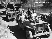 South Pacific natives see Marines for the 1st time during WWII. Willys Slat Grill MB Jeep