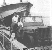 USN Armed Guards in jeep in 1944. The PT Boat and jeep are deck cargo on the tanker SS Pan Maryland which made four trips to Africa and Italy.