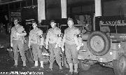 Military Police on guard besides Willys Slatgrill Jeeps in Watts during Zoot Suit Riots in Los Angeles, CA. Notice Gas Can Racks MWO added.