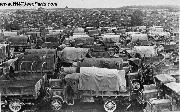 Surplus WWI Military Cars and Trucks in France. 1919