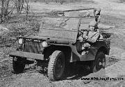 1941 Ford GP prototype Jeep driven by Colonel H.J. Lawes, Post Commander, Quartermaster Motor Transport School, Holabird Quartermaster Depot, Fort Holabird, Baltimore, Maryland. Photo is dated 1942.