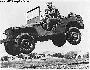 1941 Ford GP Prototype Army Jeep jumping. Landing after Jump.