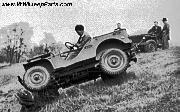 1941 Ford GP prototype 1/4 ton 4X4 Light Reconnaissance Cars at the Ford's River Rouge plant test area, outside Detroit, MI, May 1941. About 4,500 Ford GPs were produced.