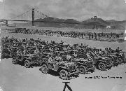 Line up of 1941 Willys MA Prototype Jeeps at Crissy Field, San Francisco, CA