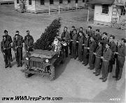 Willys MA with Santa at Camp Lee, Virginia, Quartermaster Replacement Center, Christmas 1941